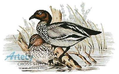cross stitch pattern Australian Wood Ducks