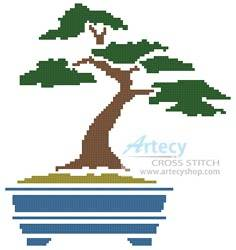 cross stitch pattern Bonsai