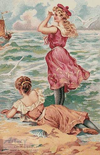 cross stitch pattern By the Seashore