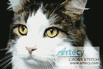 cross stitch pattern Cat Close Up 2