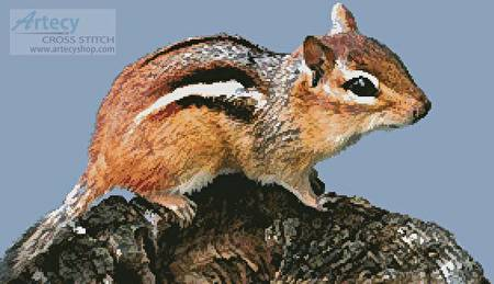 cross stitch pattern Chipmunk