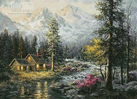 cross stitch pattern Campers Cabin