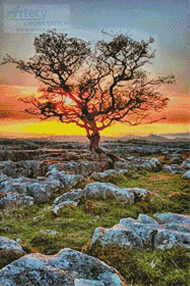 cross stitch pattern Dales Dusk