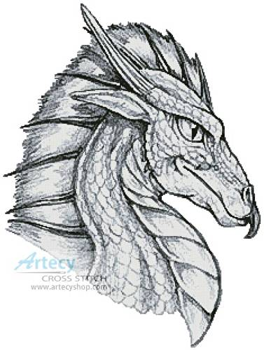cross stitch pattern Dragon Head