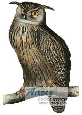 cross stitch pattern Eagle Owl