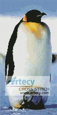 cross stitch pattern Emperor Penguin