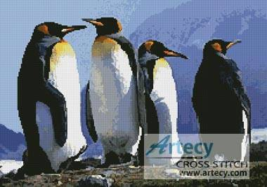 cross stitch pattern Emperor Penguins