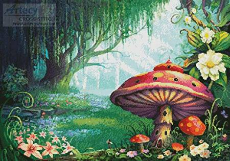 cross stitch pattern Enchanted Forest