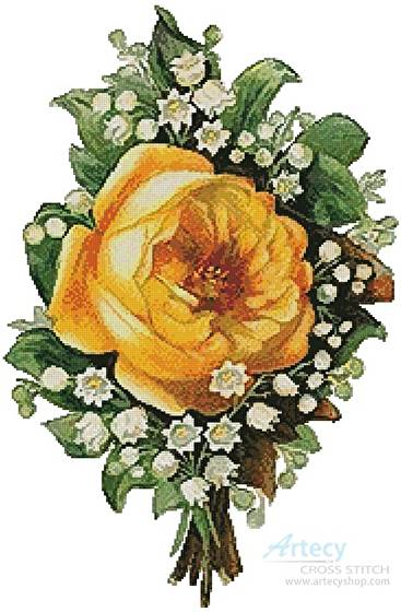 cross stitch pattern Floral Bouquet 4