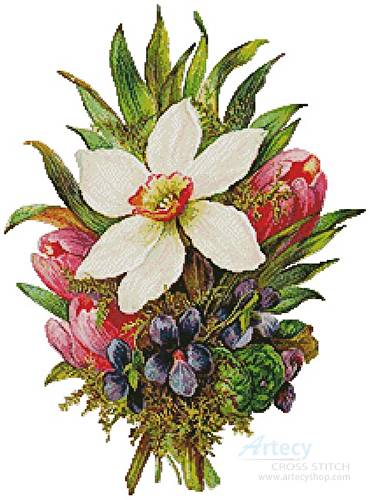 cross stitch pattern Floral Bouquet 3