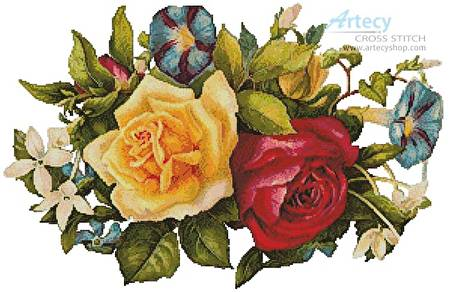 cross stitch pattern Floral Bouquet 2