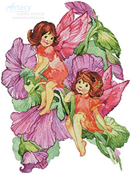 cross stitch pattern Flower Fairies 4