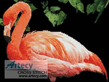 cross stitch pattern Flamingo