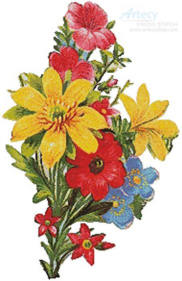 cross stitch pattern Floral Bouquet 5