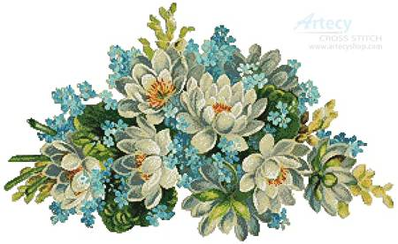 cross stitch pattern Floral Display 5