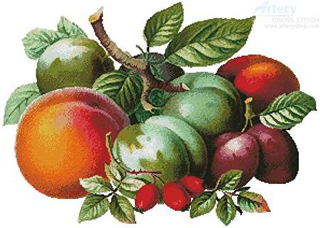 cross stitch pattern Fruits 2