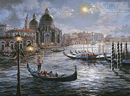 cross stitch pattern Grand Canal Venice Painting