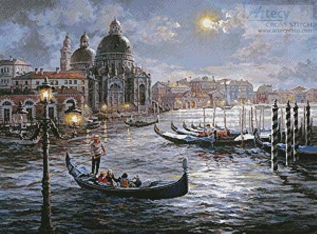 cross stitch pattern Grand Canal Venice Painting