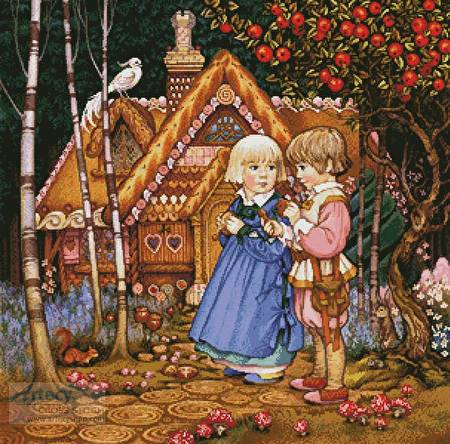 cross stitch pattern Hansel and Gretel