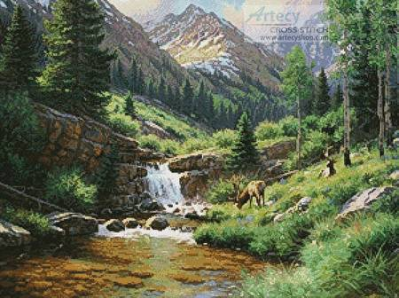 cross stitch pattern High Country Hideout