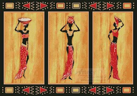 cross stitch pattern African Style