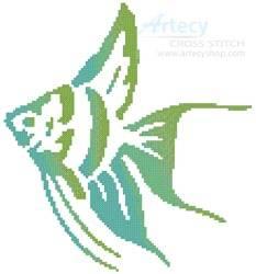 cross stitch pattern Angel Fish