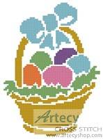 cross stitch pattern Little Easter Basket