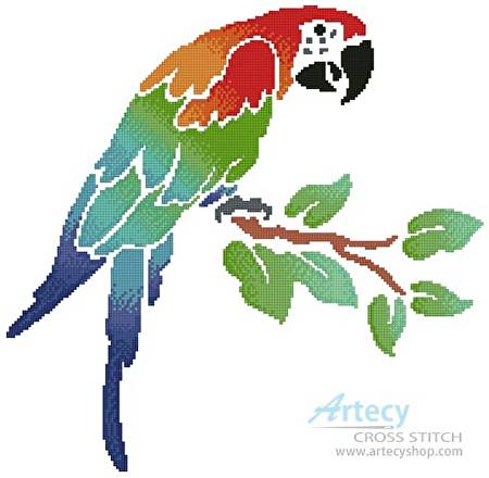cross stitch pattern Parrot