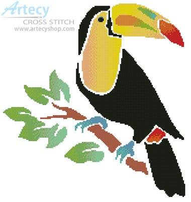 cross stitch pattern Toucan