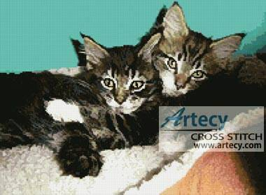 cross stitch pattern Kittens Photo