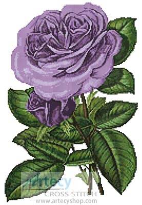 cross stitch pattern Lavender Roses Print