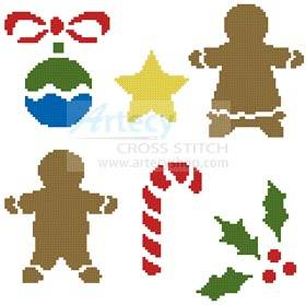 cross stitch pattern Little Christmas Motifs