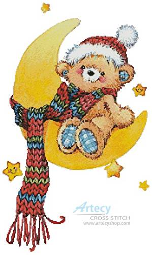 cross stitch pattern Bedtime Bear