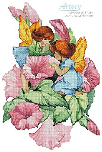 cross stitch pattern Flower Fairies 3