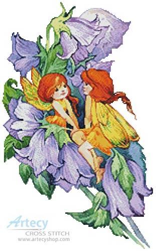 cross stitch pattern Flower Fairies 2