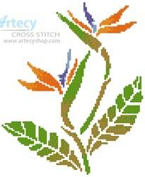 cross stitch pattern Little Bird of Paradise