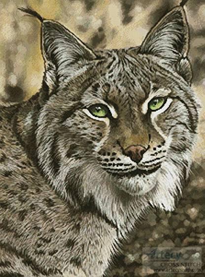 cross stitch pattern The Lynx Effect