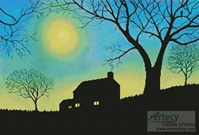 cross stitch pattern Moonlit Evening