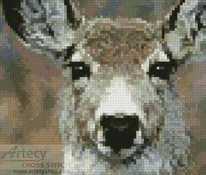 cross stitch pattern Mini Deer Face