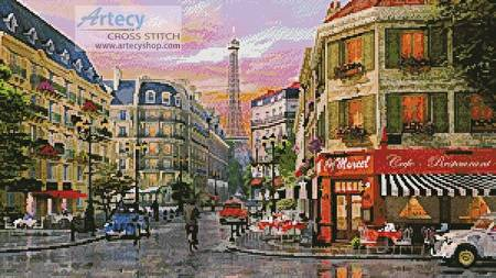 cross stitch pattern Rue Paris