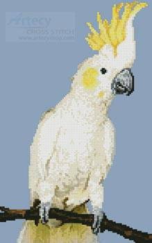 cross stitch pattern Mini Sulphur Crested Cockatoo