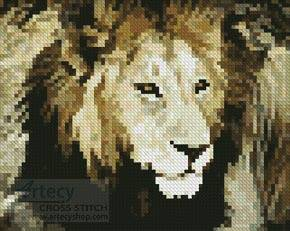 cross stitch pattern Mini Lion 4
