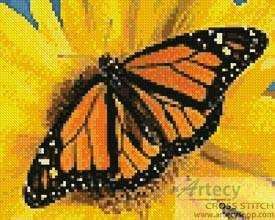 cross stitch pattern Mini Monarch Sunflower