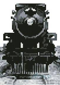cross stitch pattern Mini Vintage Train