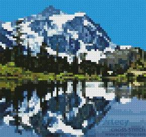 cross stitch pattern Mini Snow Capped Mountains