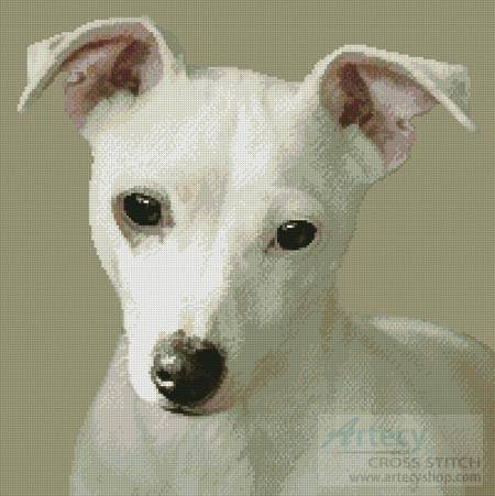 cross stitch pattern Miniature Jack Russell Terrier