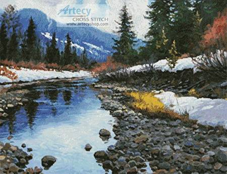 cross stitch pattern Montana Stream