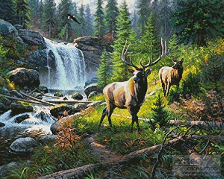 cross stitch pattern Thunder River