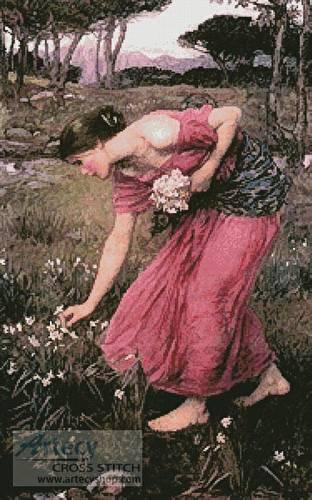 cross stitch pattern Narcissus