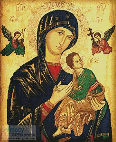 cross stitch pattern Our Lady of Perpetual Help